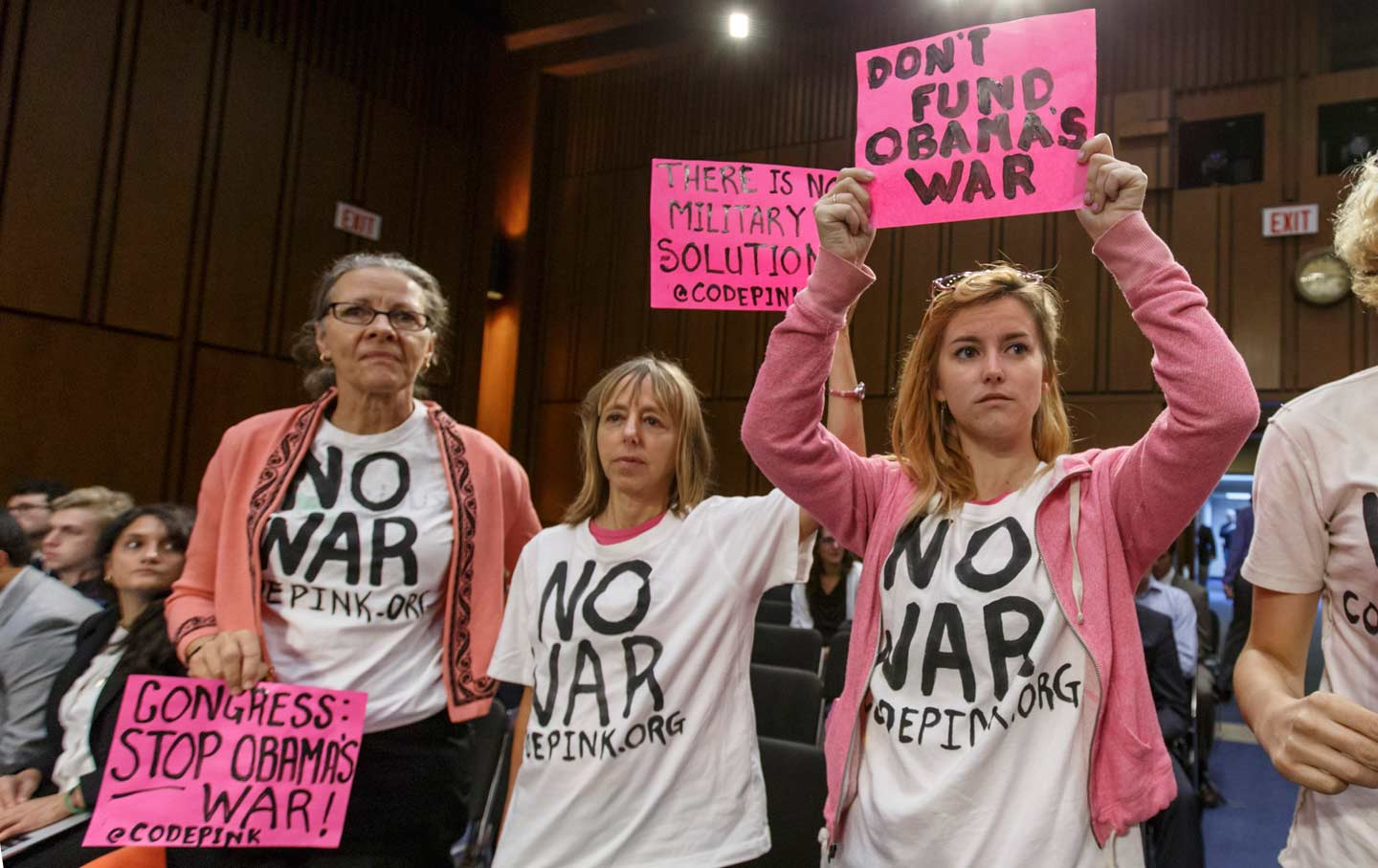 Anti-War Protesters in Congress