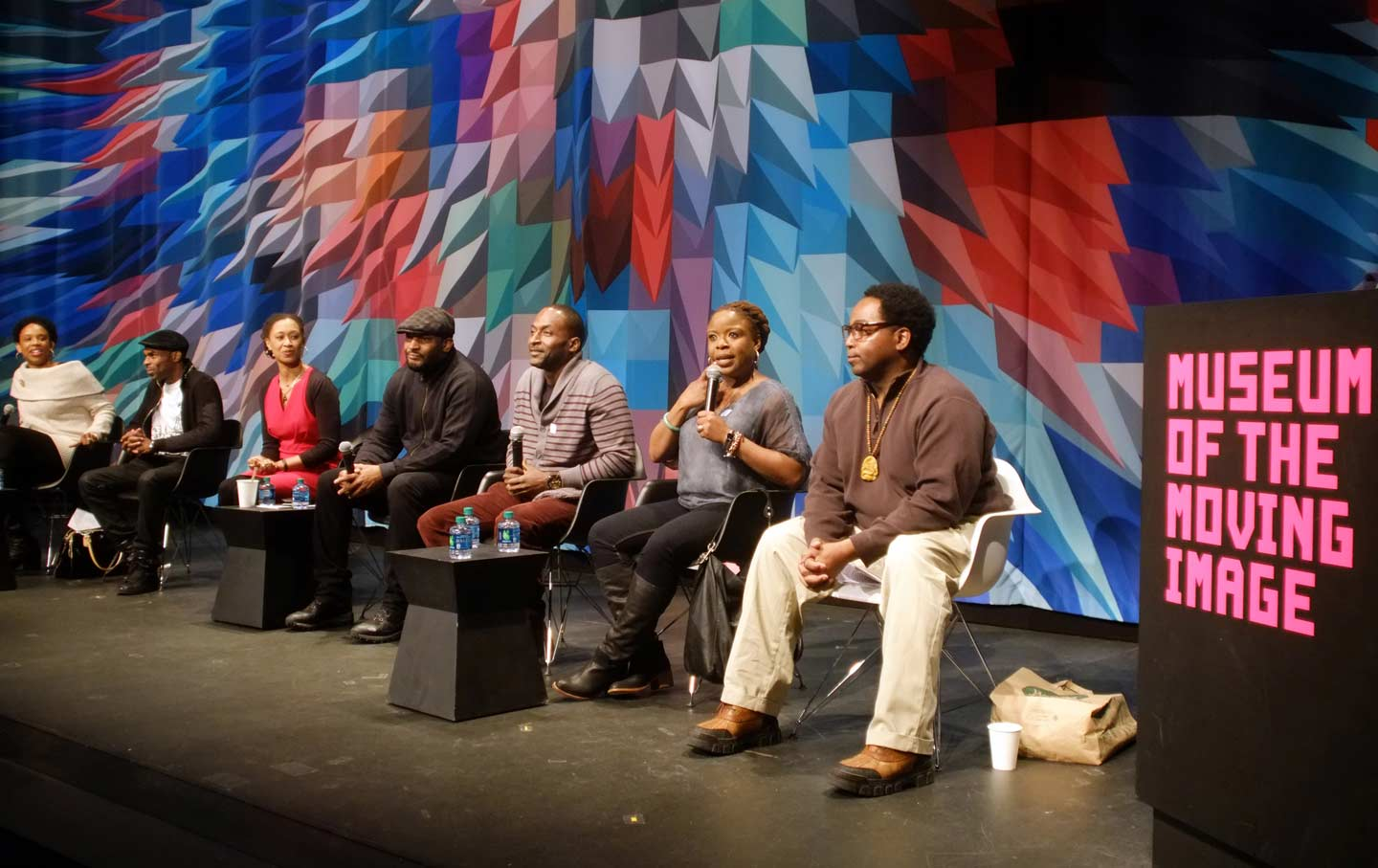 Panel discussion at Museum of the Moving Image