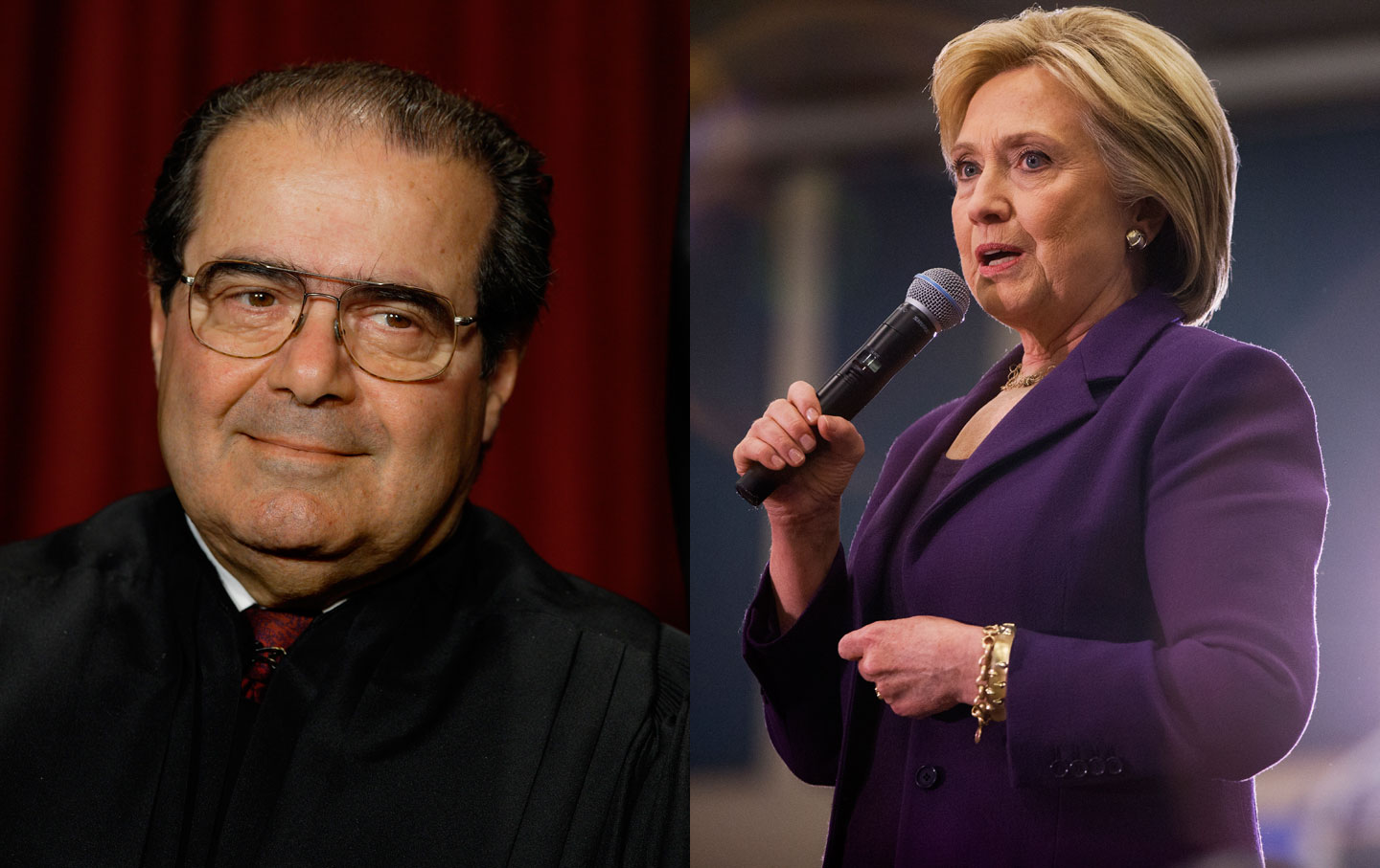 Scalia, Clinton