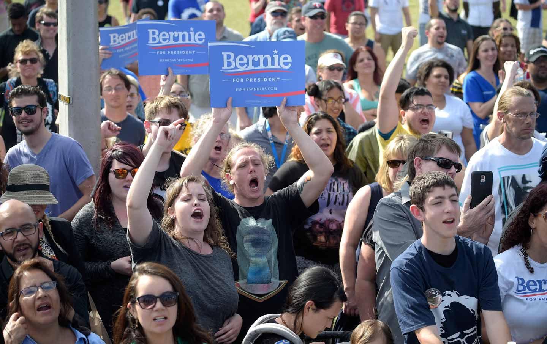 Supporters of Bernie Sanders