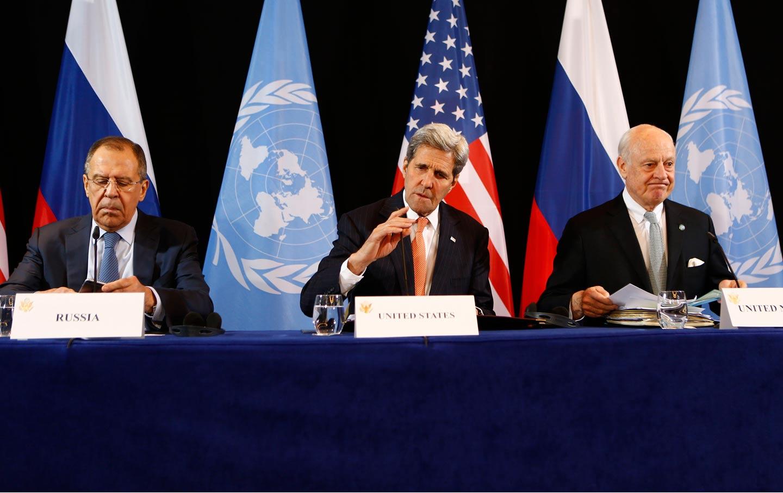 Kerry, Lavrov, de Mistura at talks in Munich