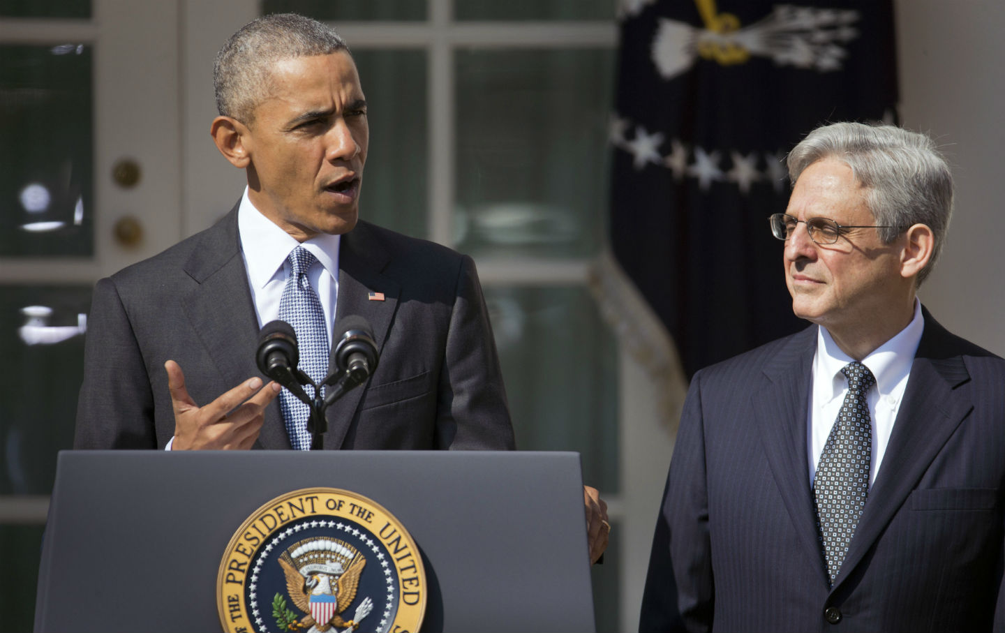 Barack Obama and Merrick Garland