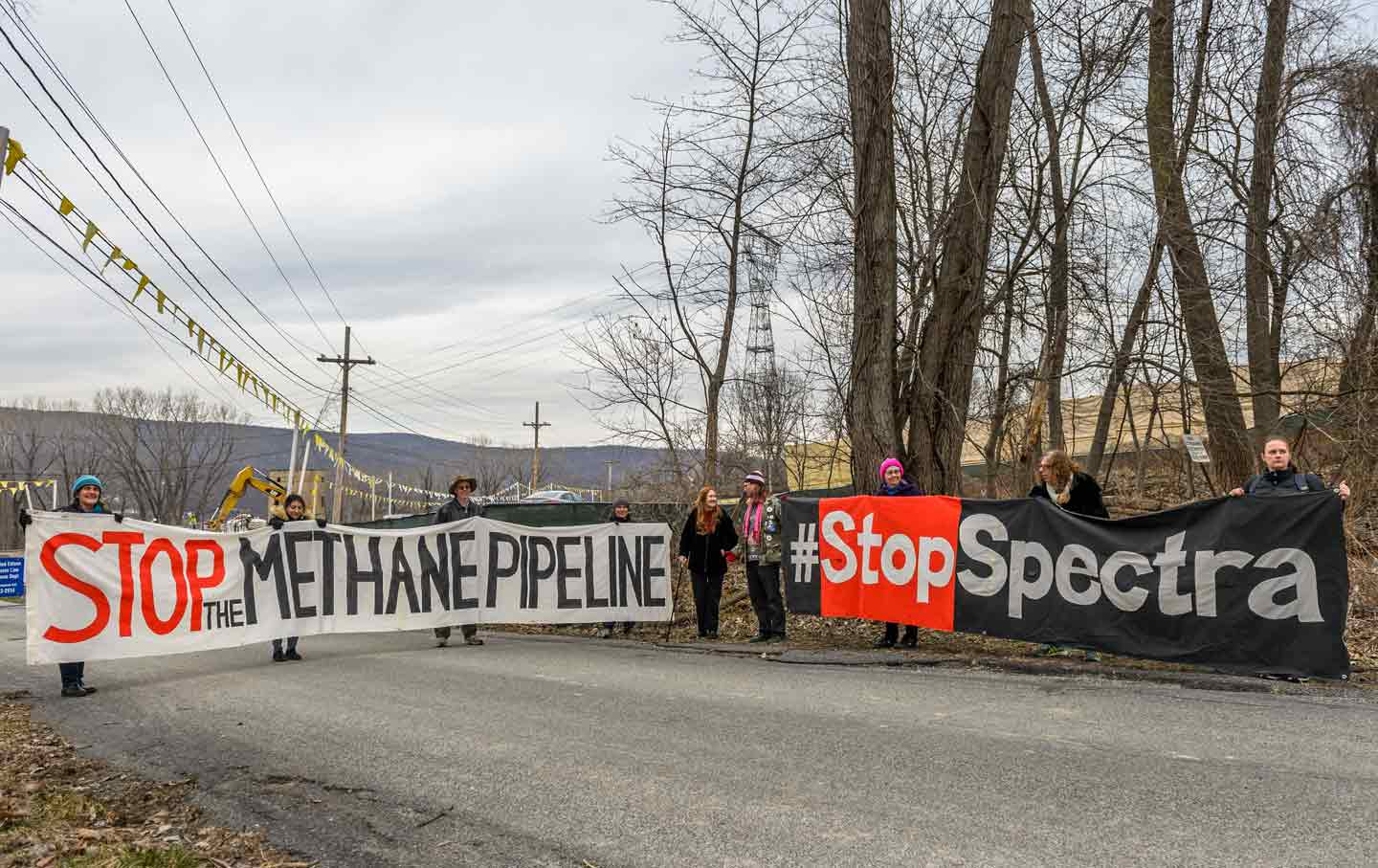 Spectra AIM pipeline protest