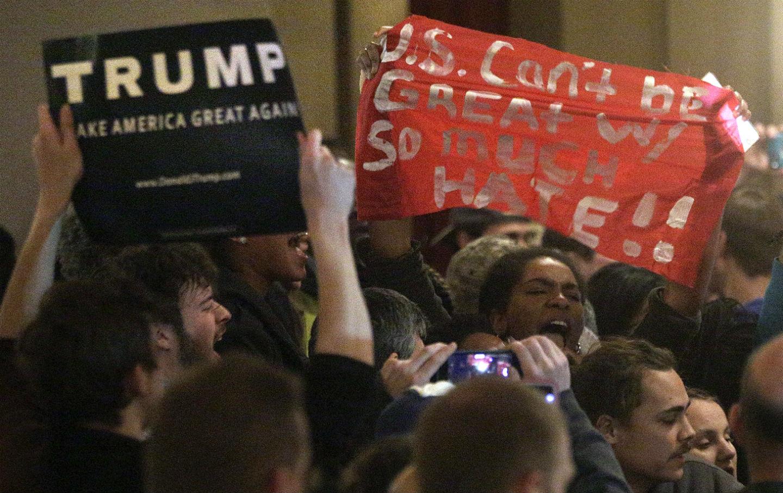 Trump Rally Protest
