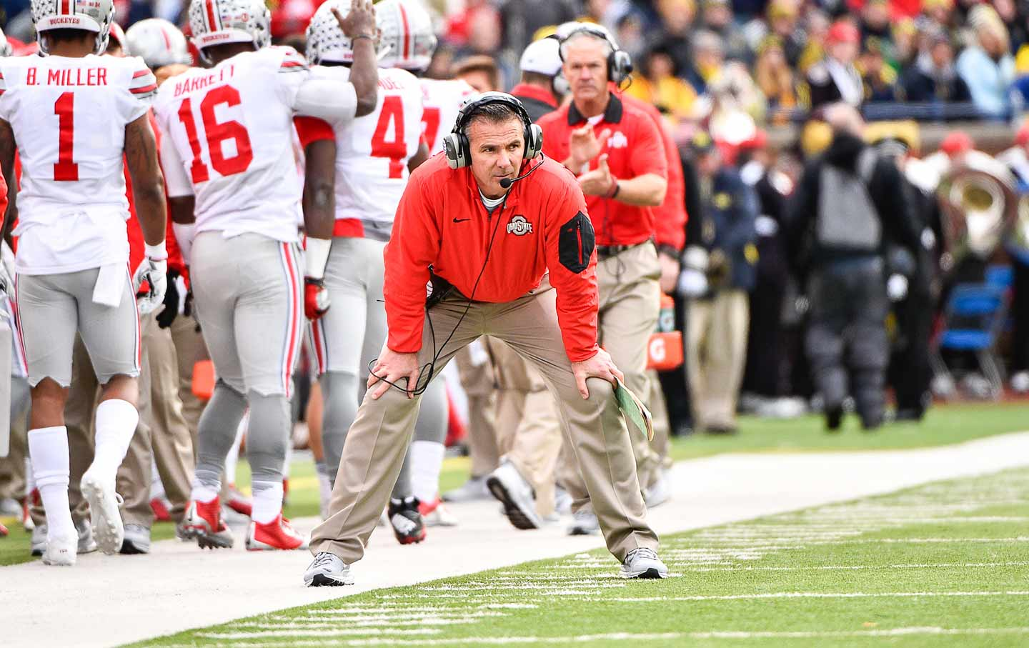 Urban Meyer on the sidelines