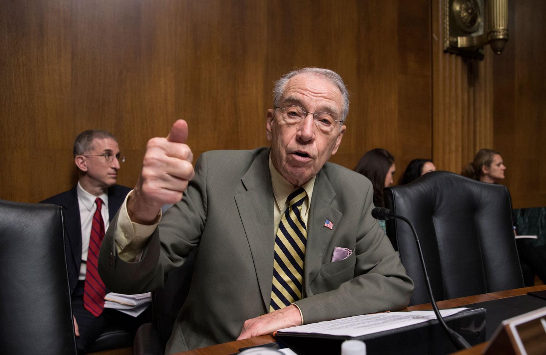 Senate Judiciary Committee Chairman Chuck Grasley