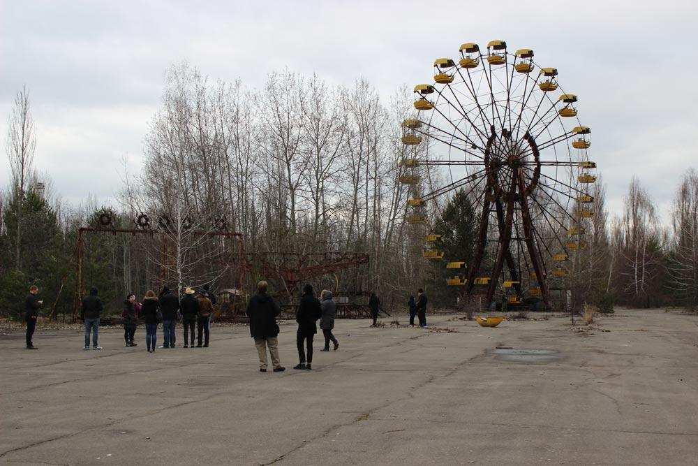 Ferris wheel near Chernobyl nuclear power plant