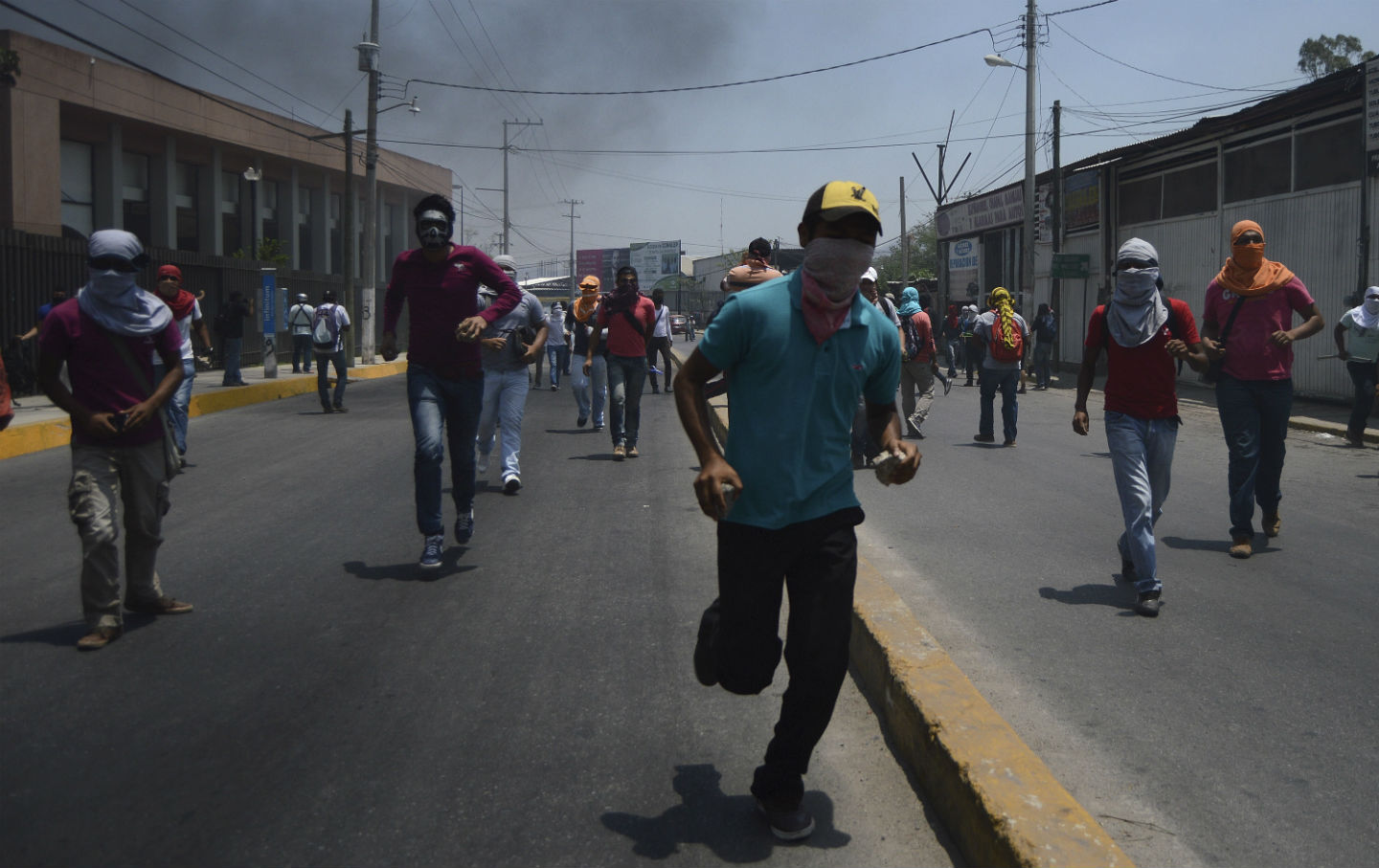 Protest in Chilpancingo Mexico