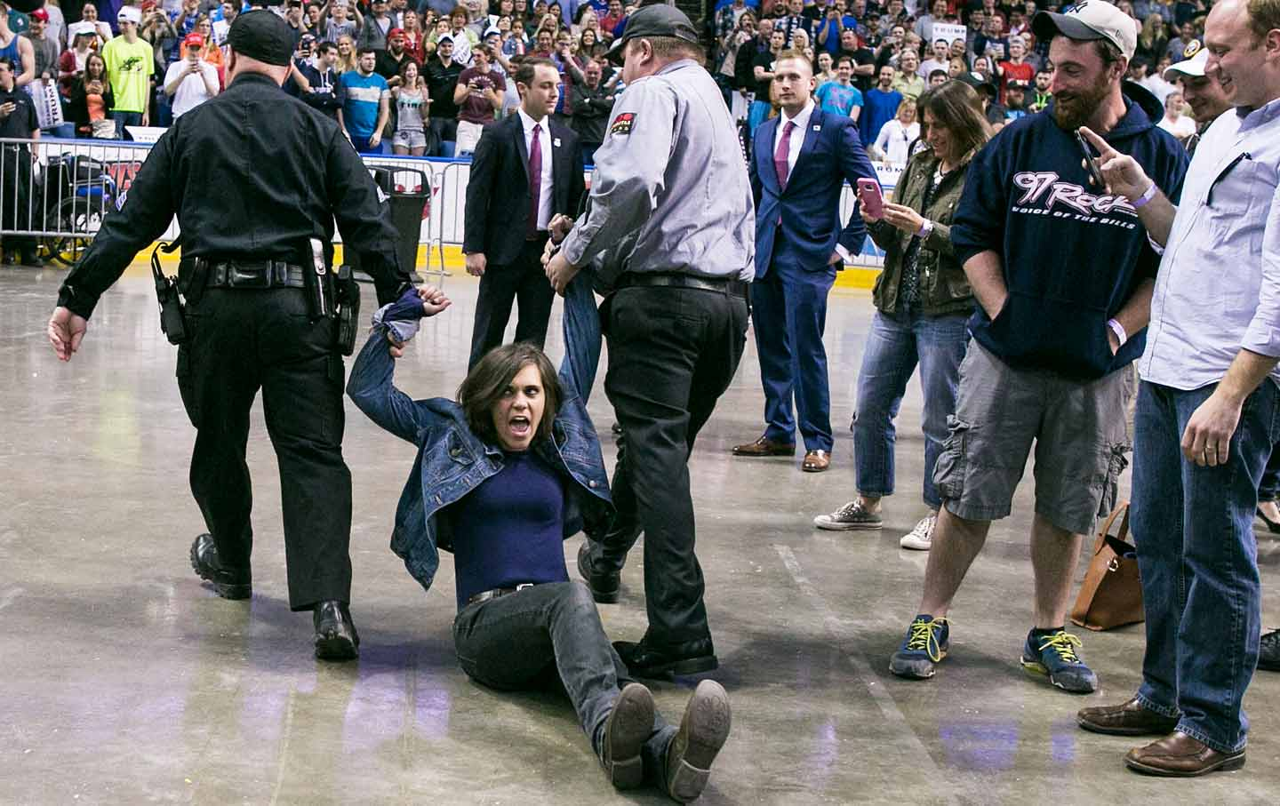 Protesters are removed from Trump rally in Buffalo