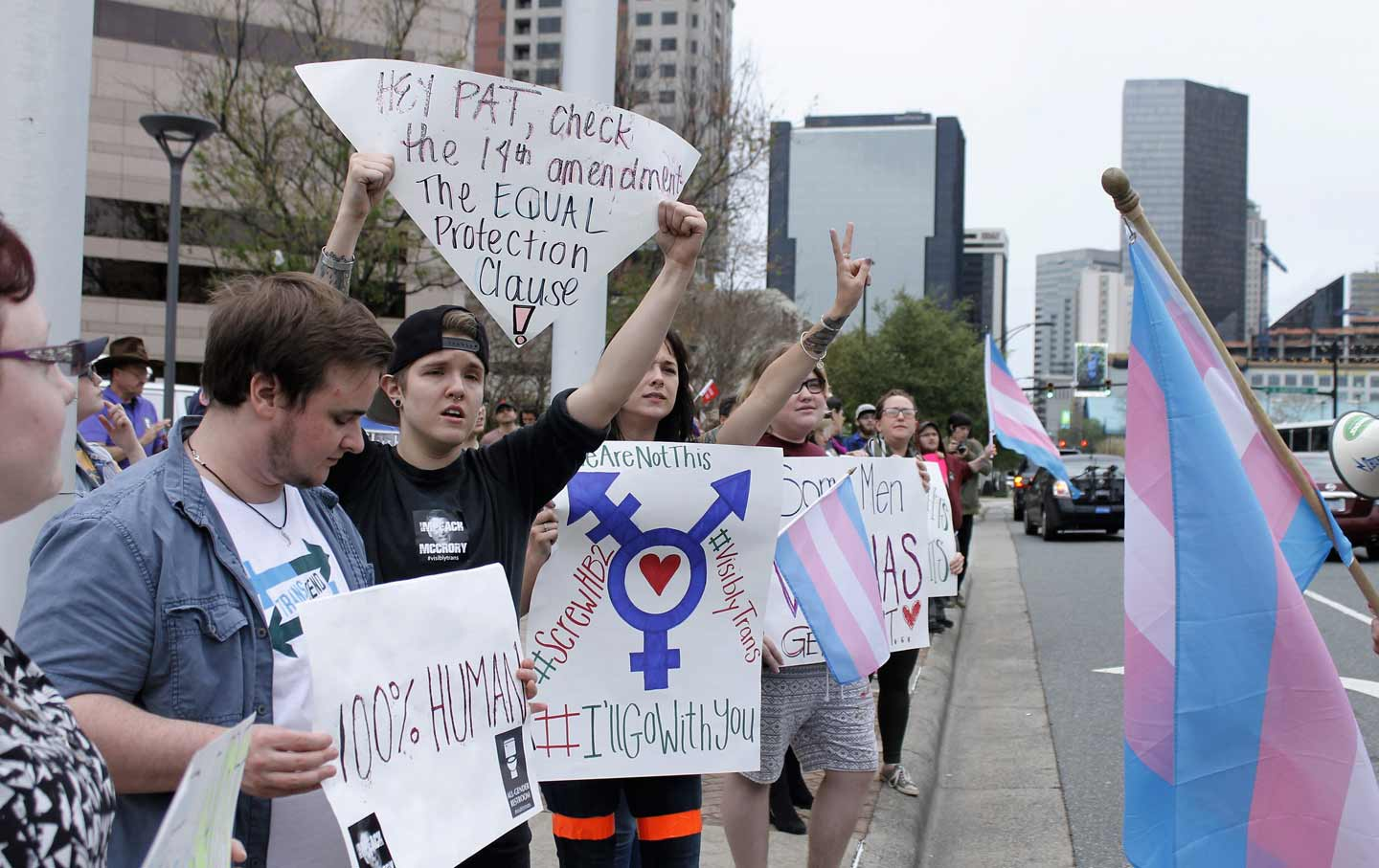 North Carolina LGBT protest