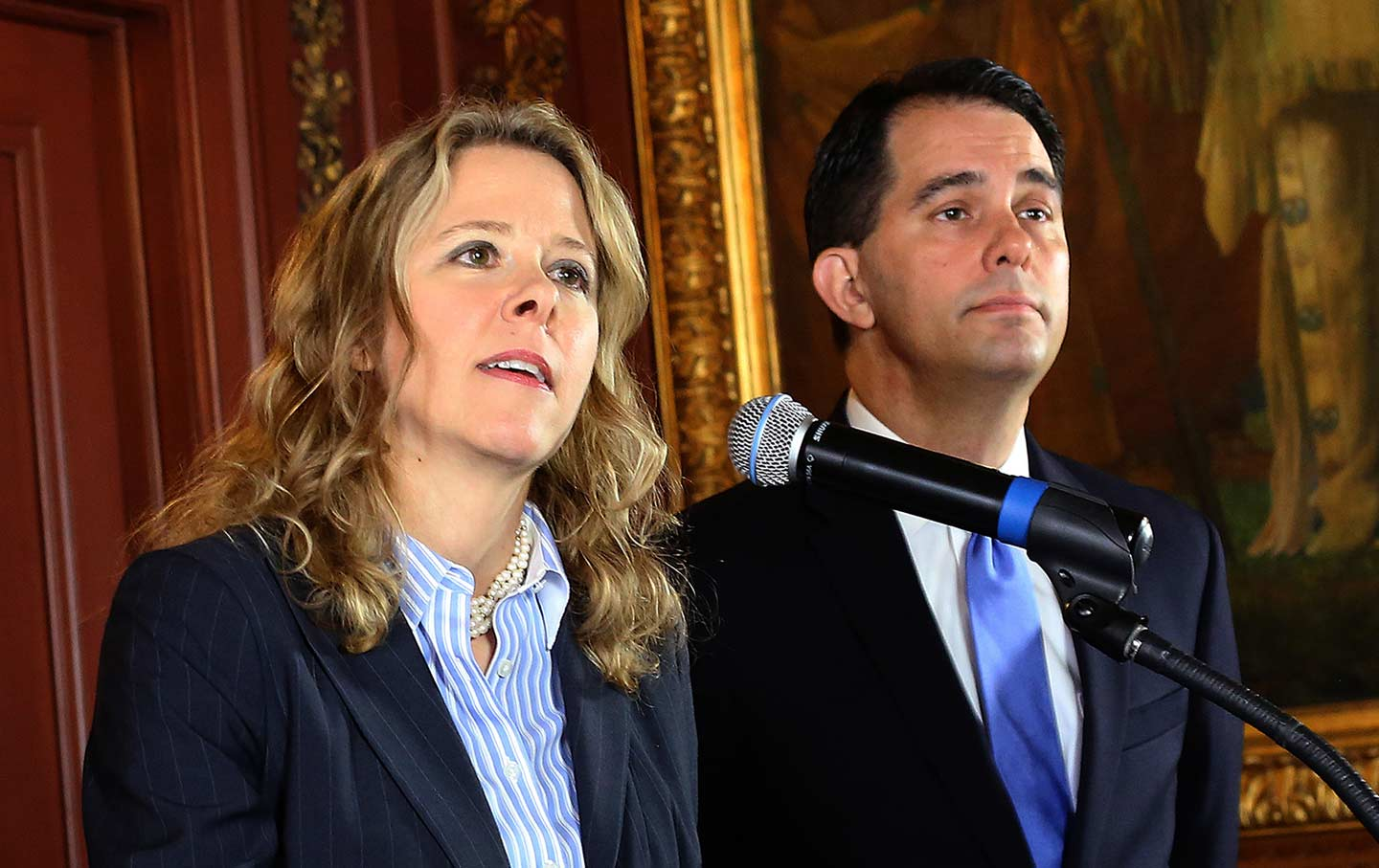 Scott Walker and Rebecca Bradley