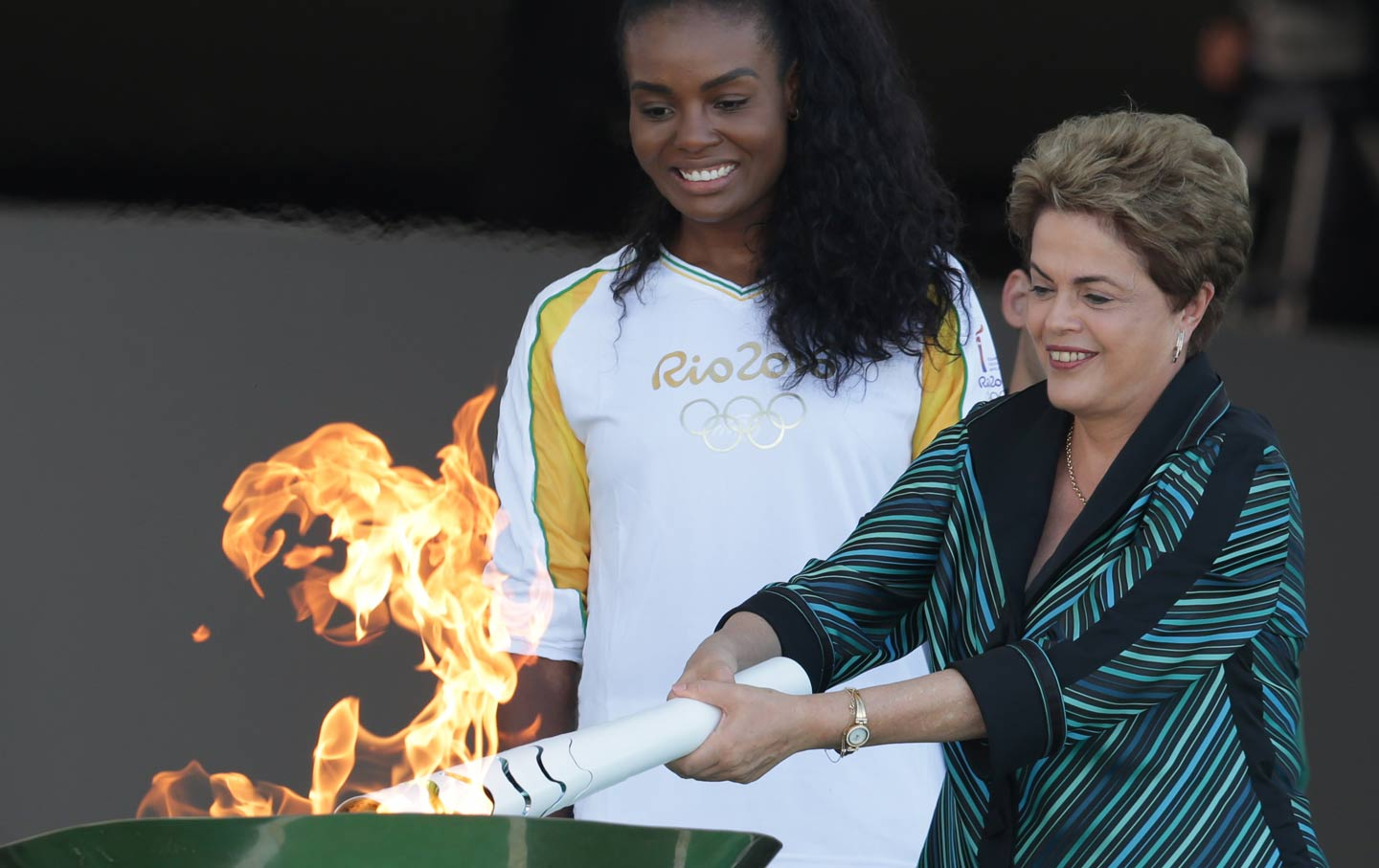 Rousseff Lights the Olympic Torch