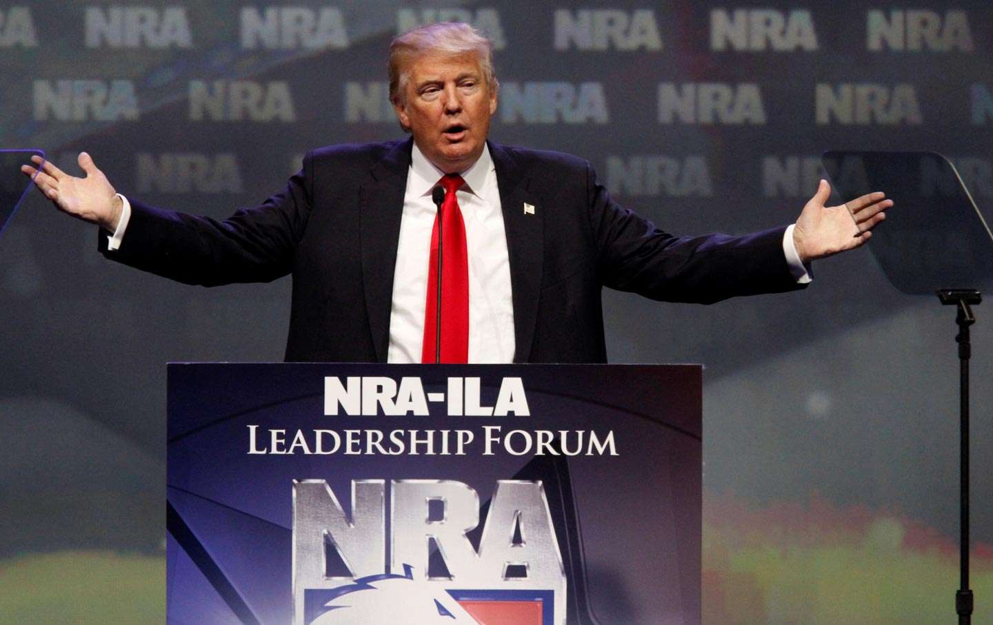 Donald Trump addresses NRA members