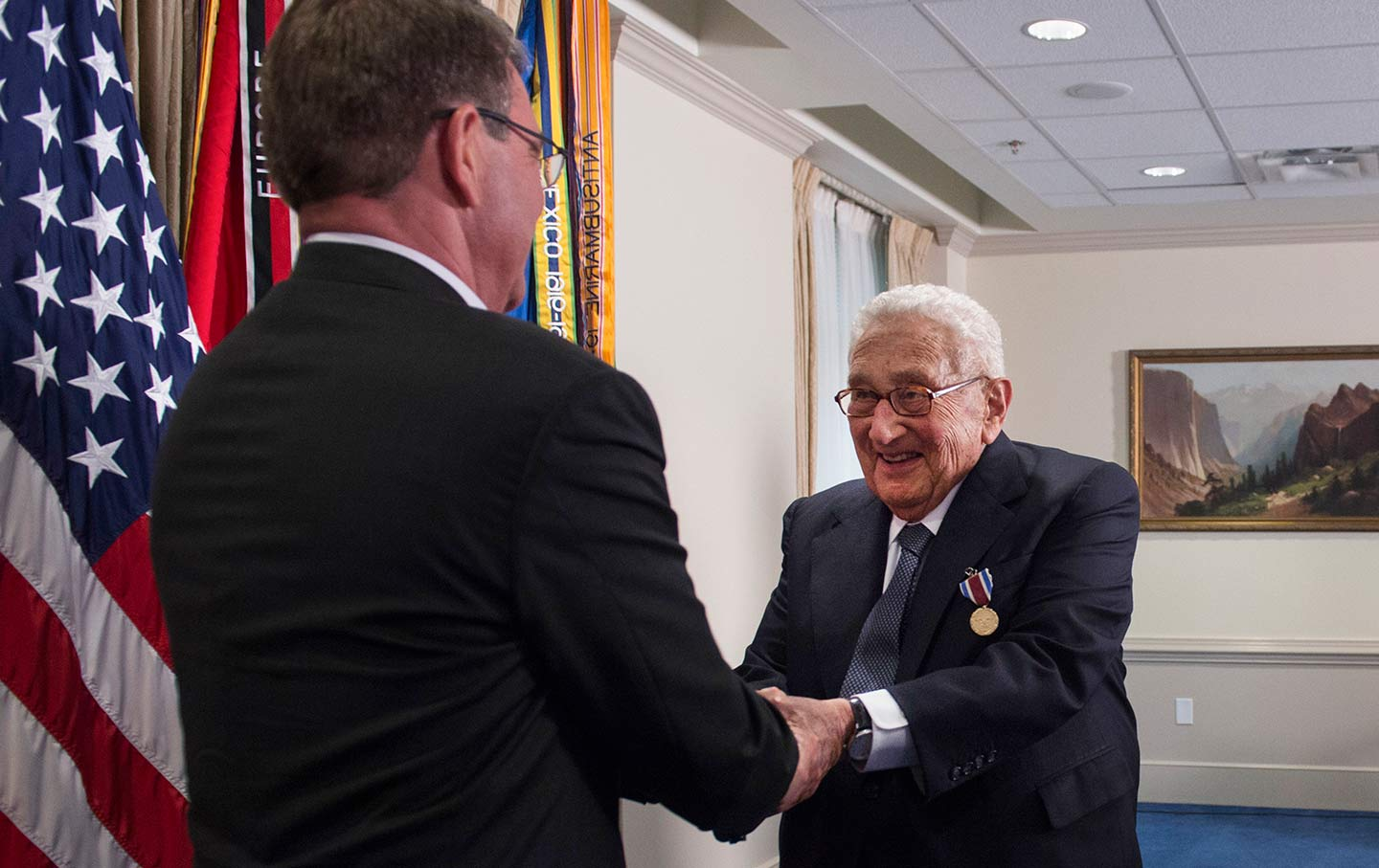 Ash Carter and Henry Kissinger