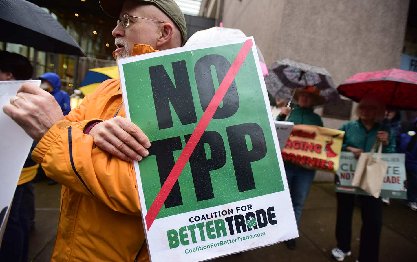 Oregon TPP protest