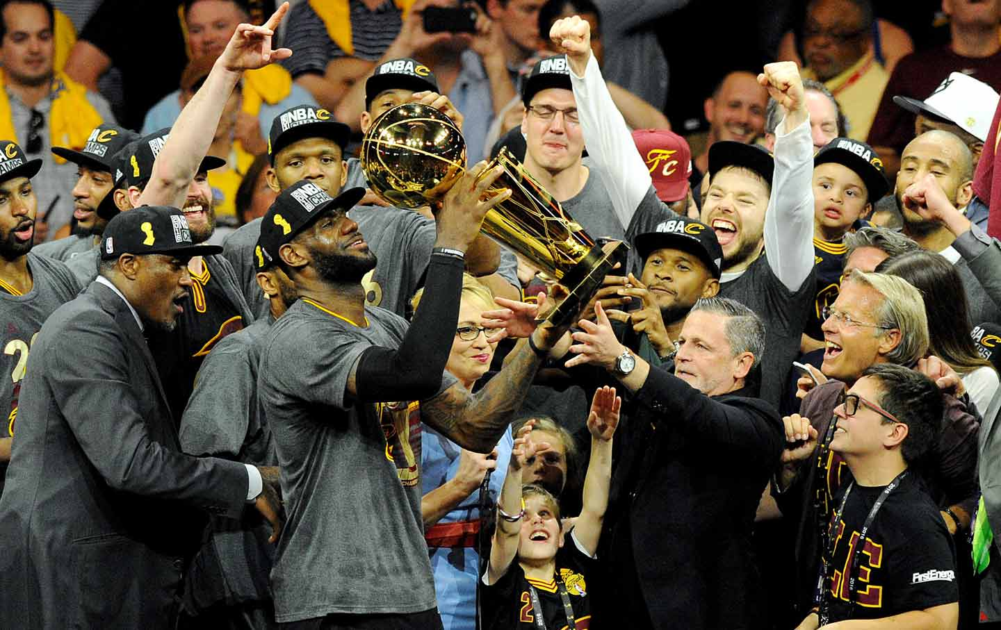 Image result for lebron james 2016 finals celebration