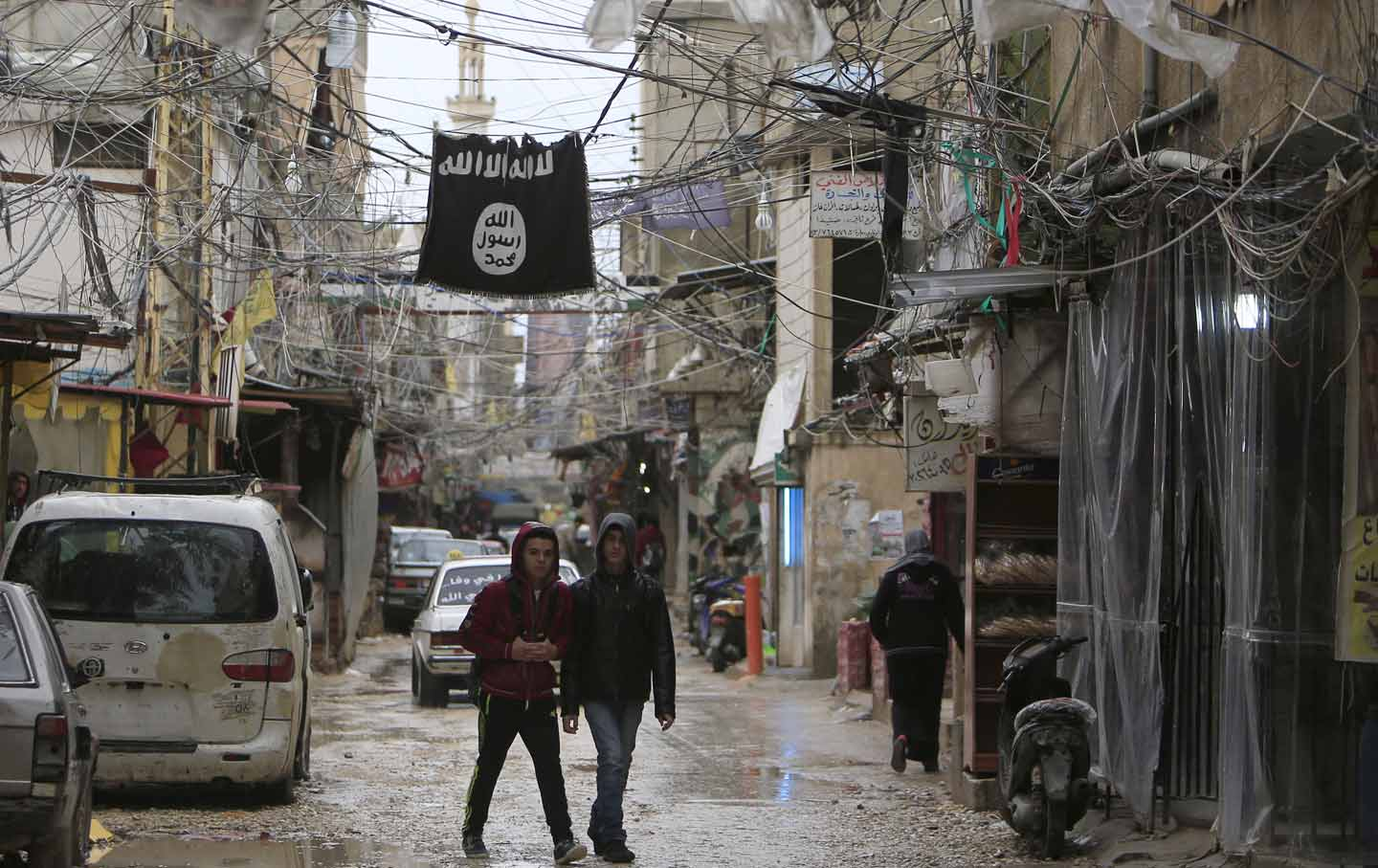 An ISIS flag in Lebanon