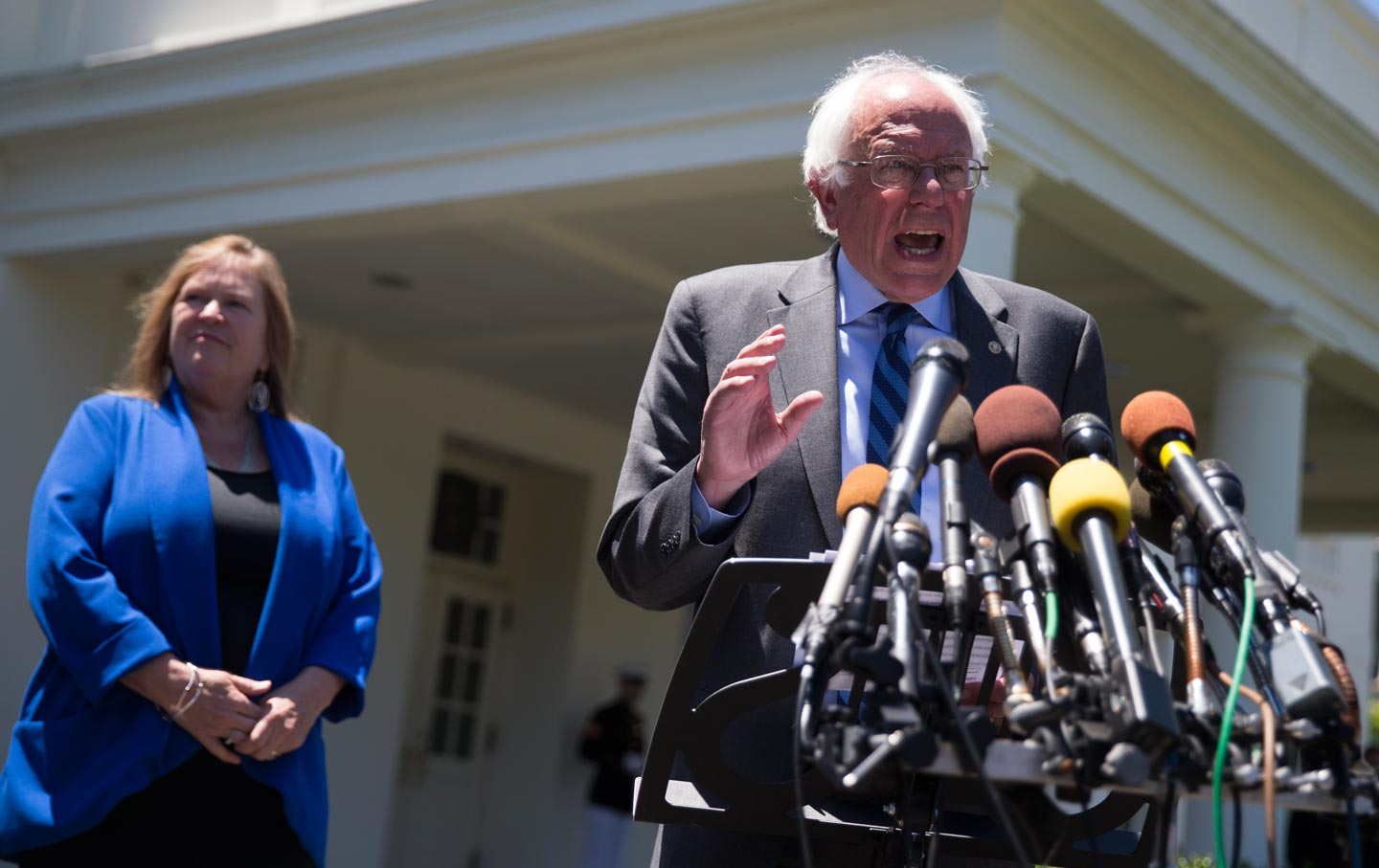 Bernie Sanders at the White House