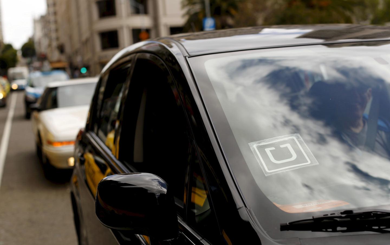 Uber decal on car reuters robert galbraith