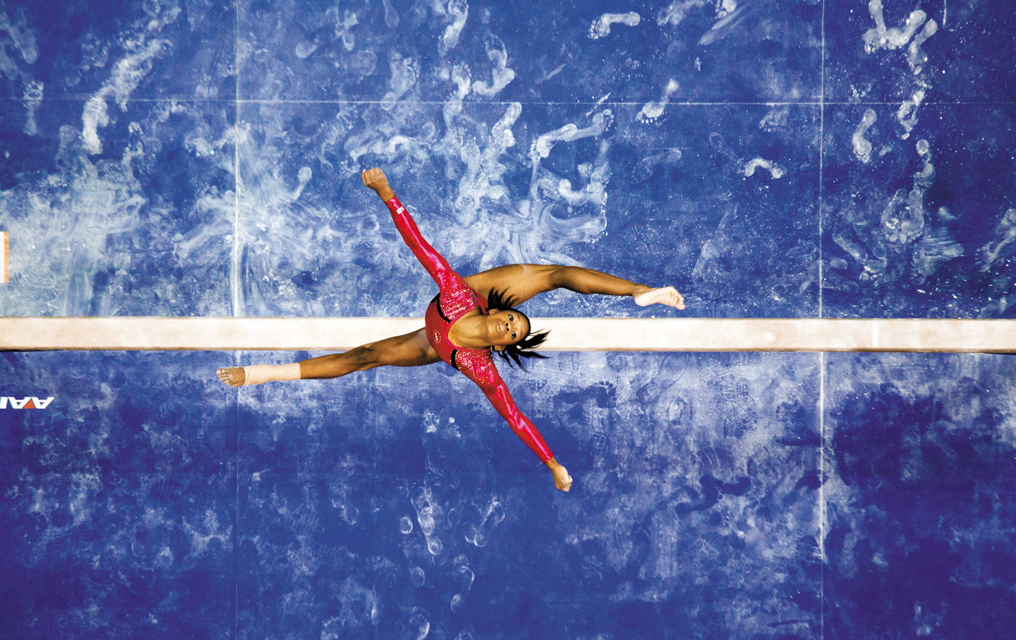 Gabby Douglas at the 2012 Olympic trials in San Jose, California (Peter Read Miller)