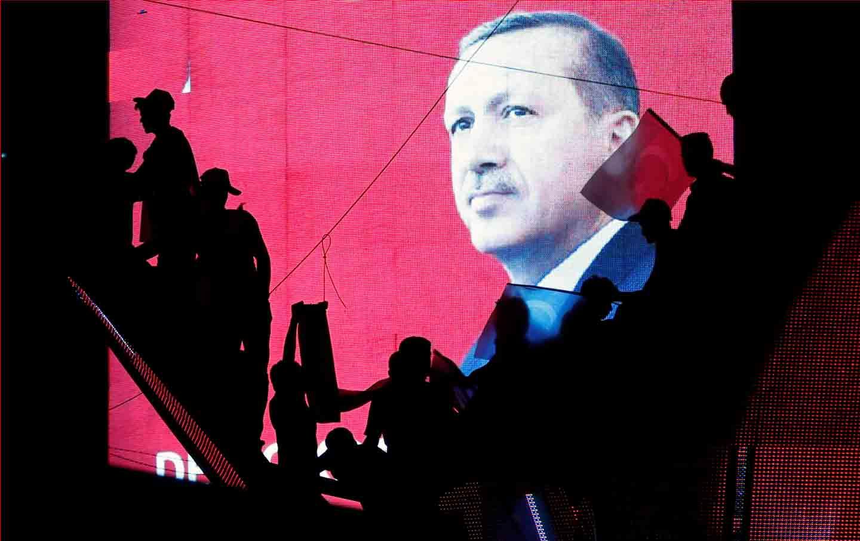Erdogan Silhouette