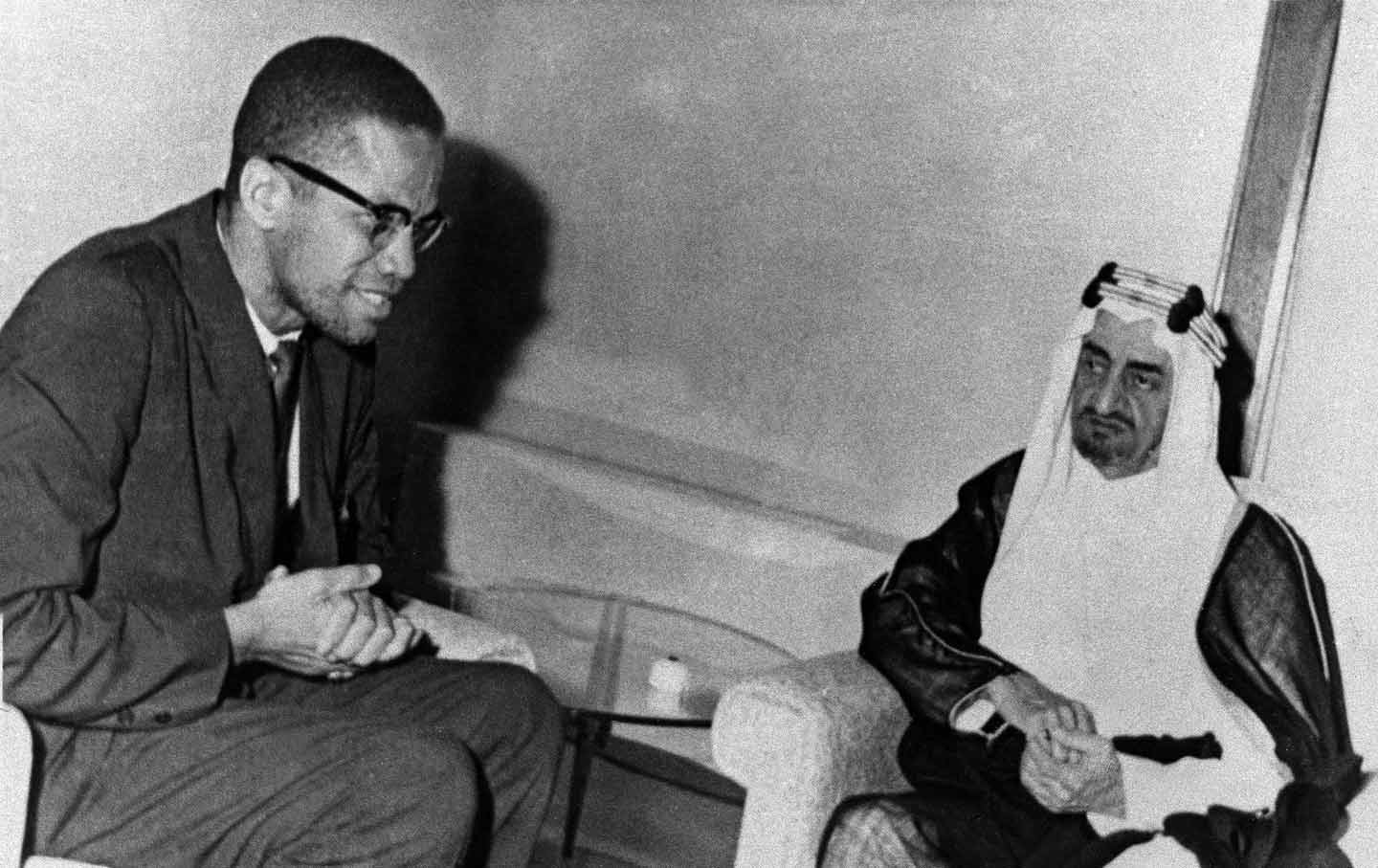 Malcolm X with King Faisal