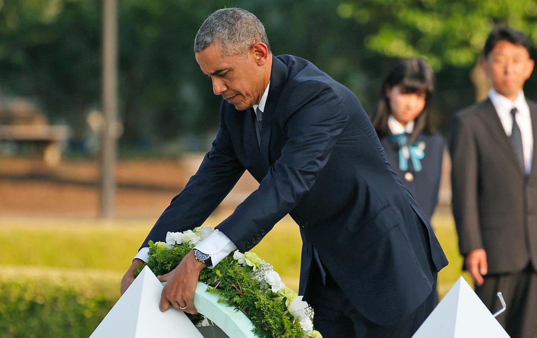 Obama Hiroshima Wreath