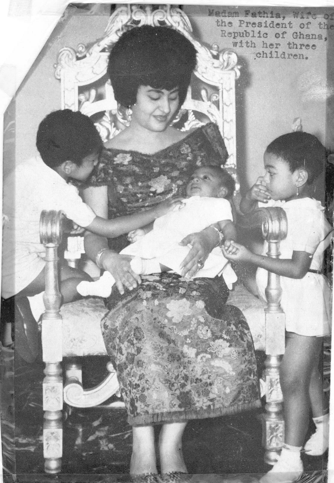 Fathia Nkrumah & children
