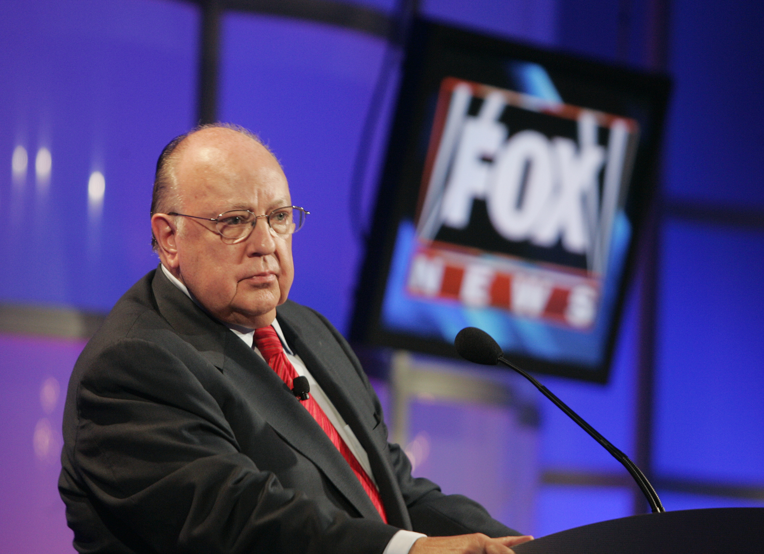 Roger Ailes, chairman and CEO of Fox News attends panel discussion at Television Critics Association summer press tour in Pasadena