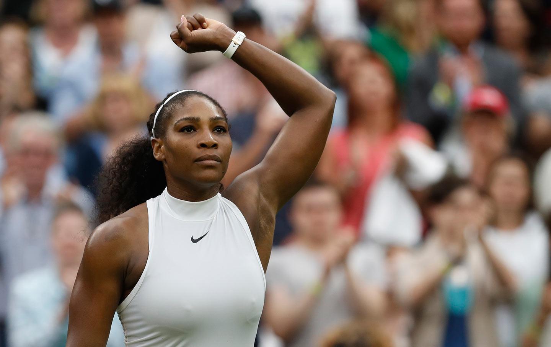 Serena Wimbledon Victory Fist