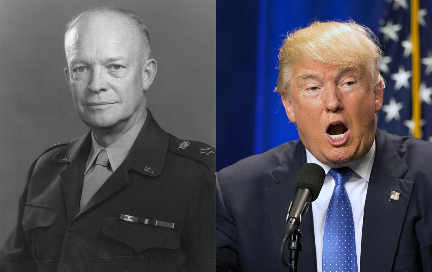 Dwight D. Eisenhower and Donald Trump