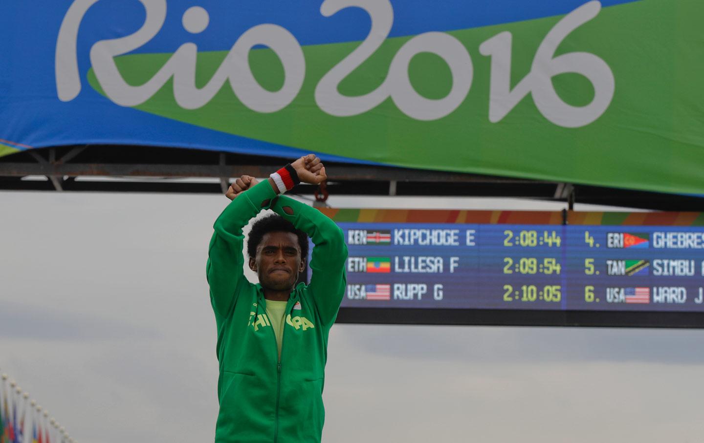 Feyisa Lilesa Olympic Protest