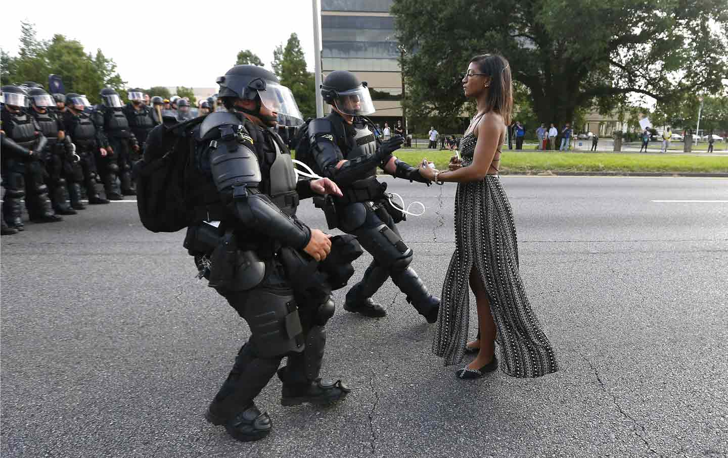 Ieshia Evans in Baton Rouge