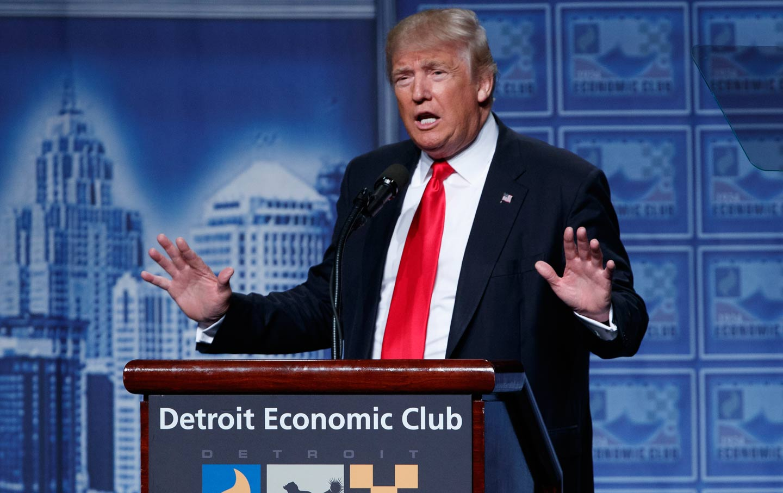 Trump speaks at Detroit Economic Club