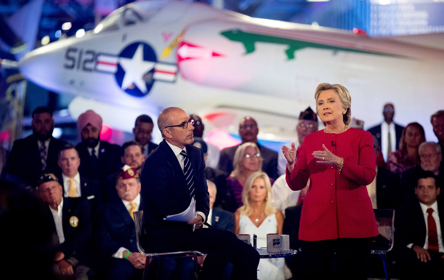 Hillary speaks at Commander in Chief Forum