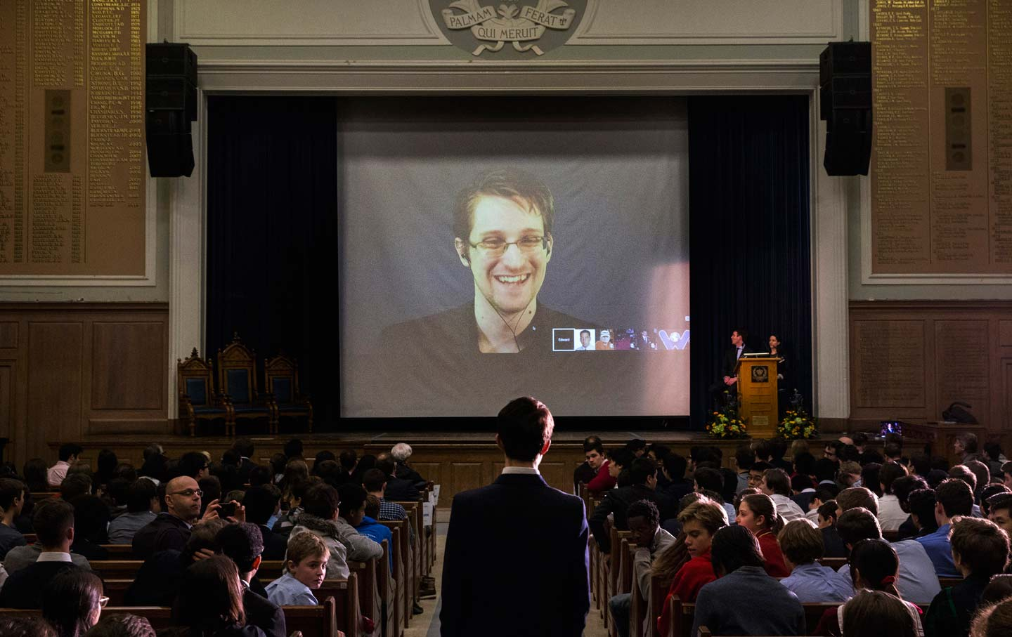 Snowden at a Canadian high school