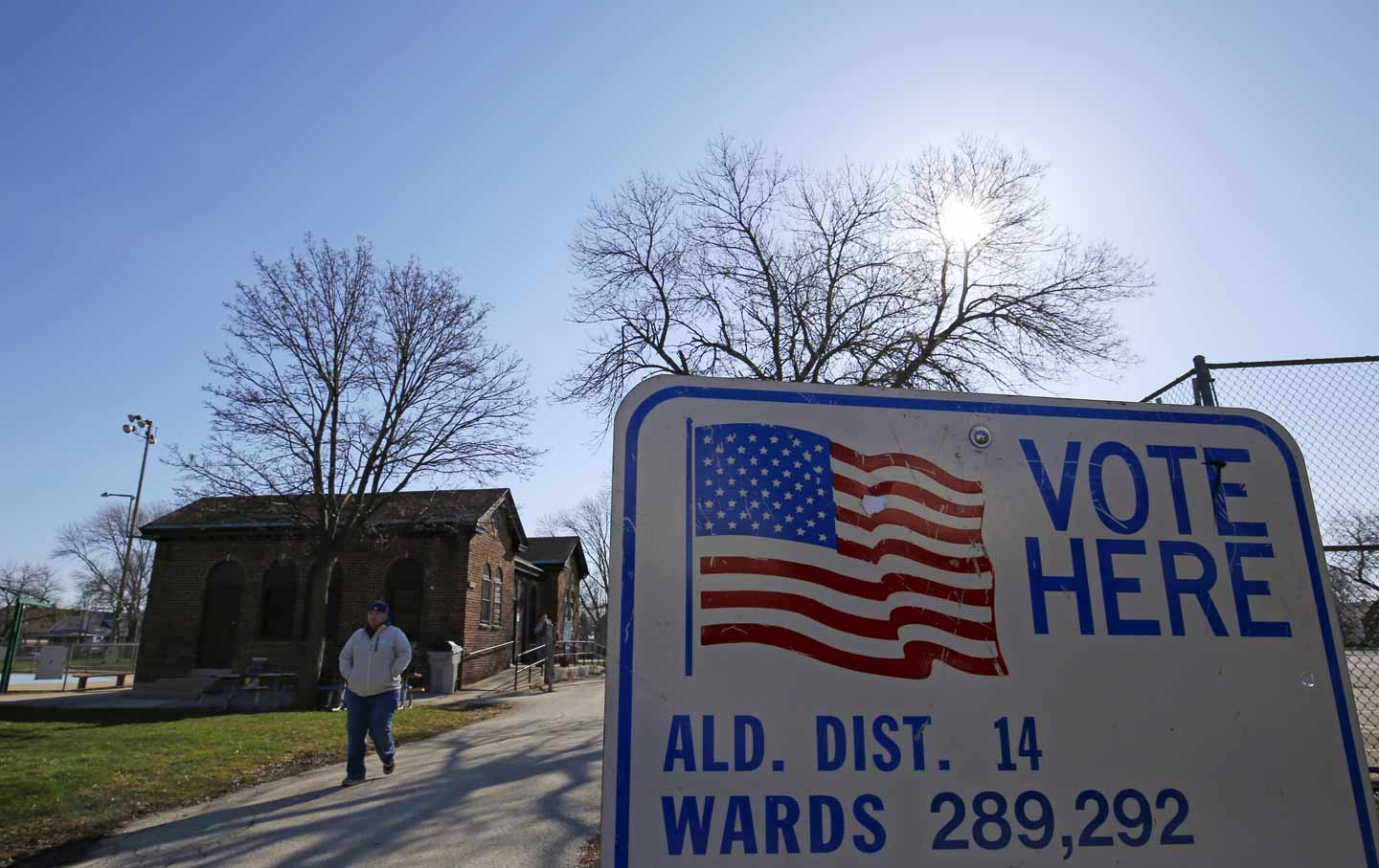 Wisconsin voting sign