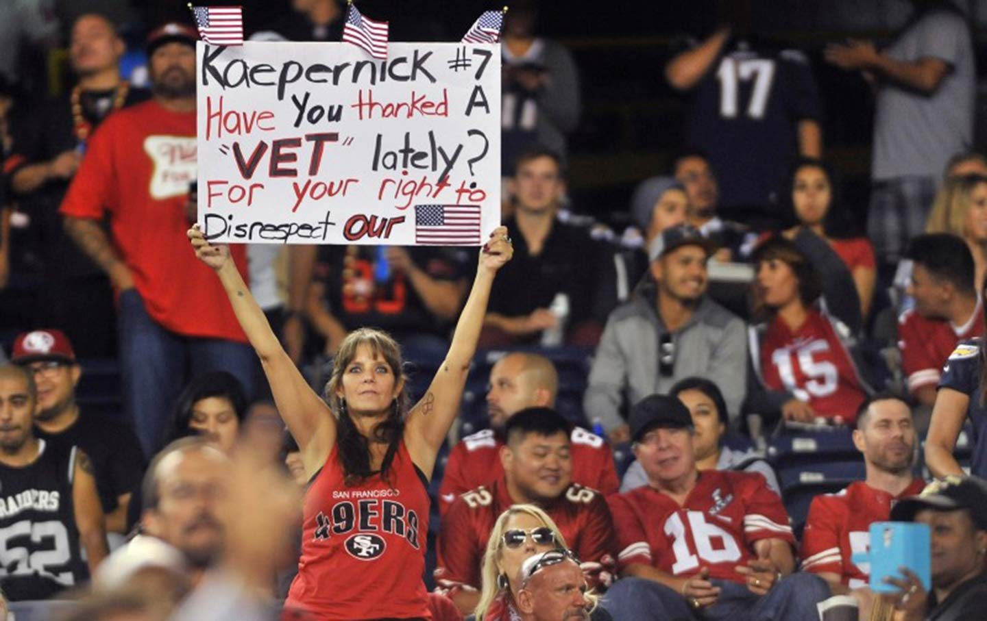 colin_kaepernick_vet_protest_ap colin kaepernick's protest has nothing to do with the military the
