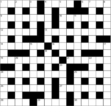 entertainment cryptic crossword no .