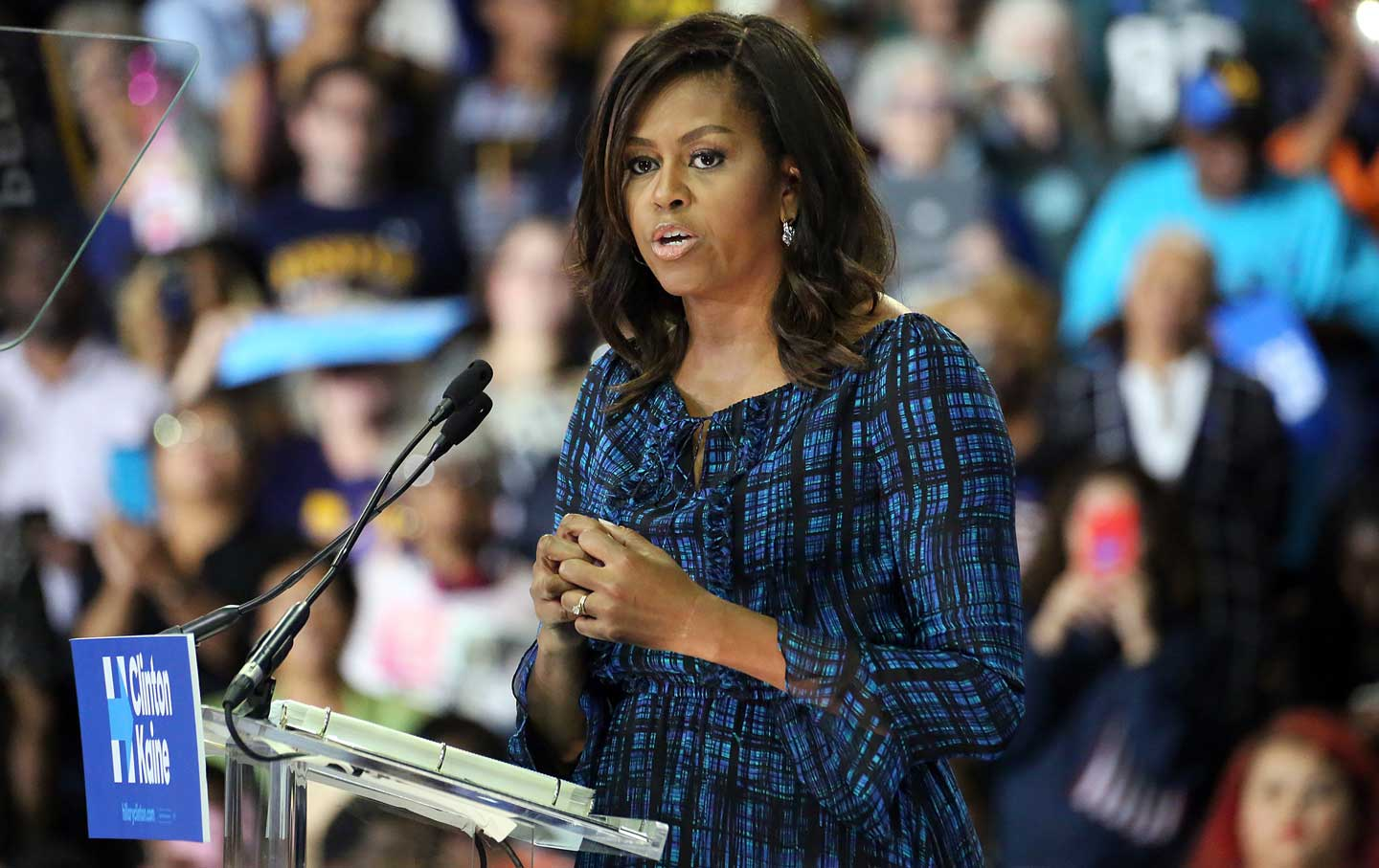 Michelle Obama speaks in Pennsylvania