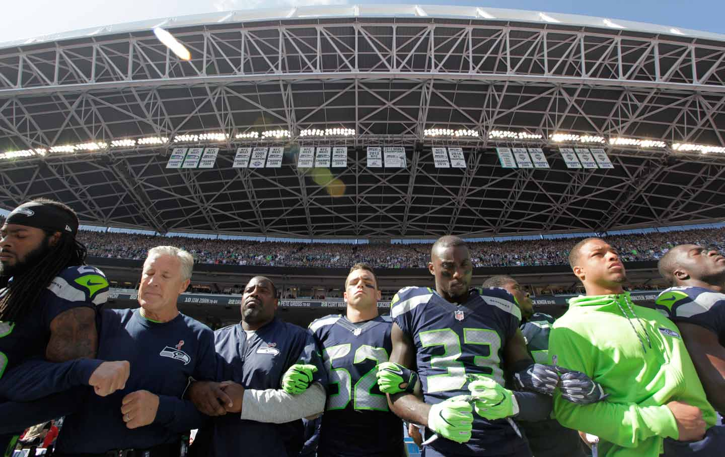 Seattle Seahawks Linking Arms