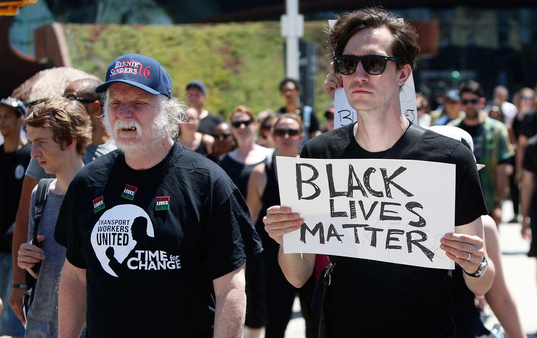 White BLM Protester