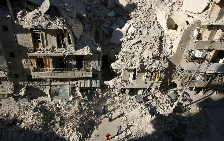 Rubble in Aleppo