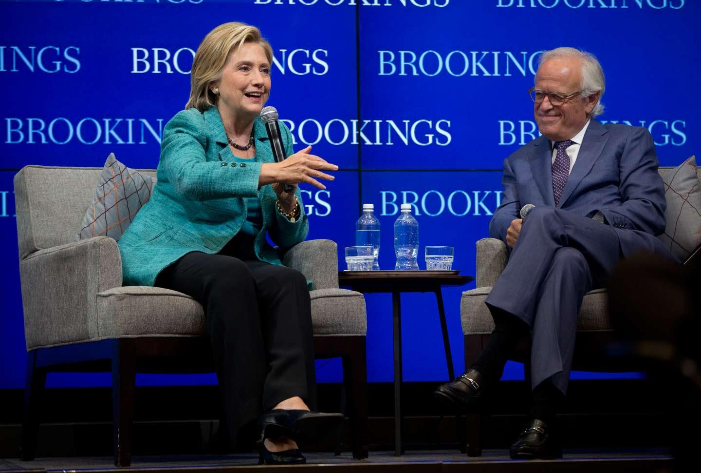 Hillary at Brookings
