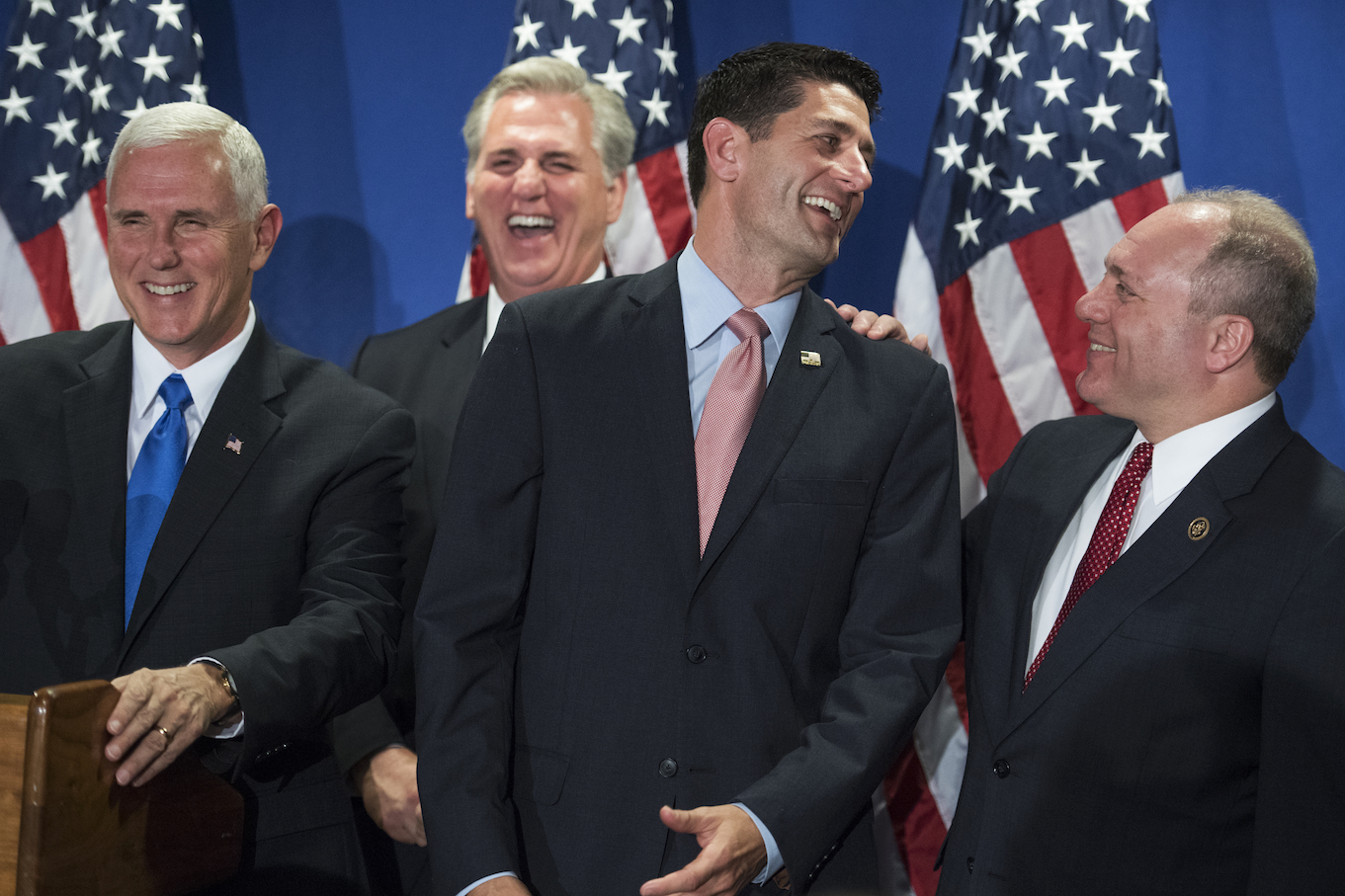 Republicans laugh