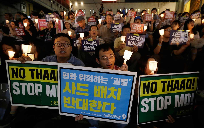 South Korea THAAD protest