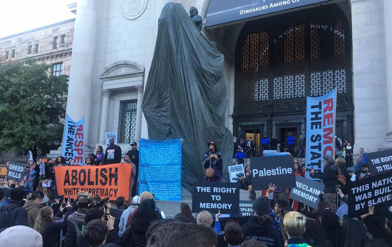 Decolonize ANHM Protest