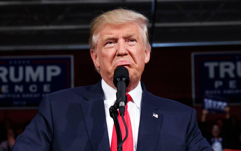 Donald Trump grimace