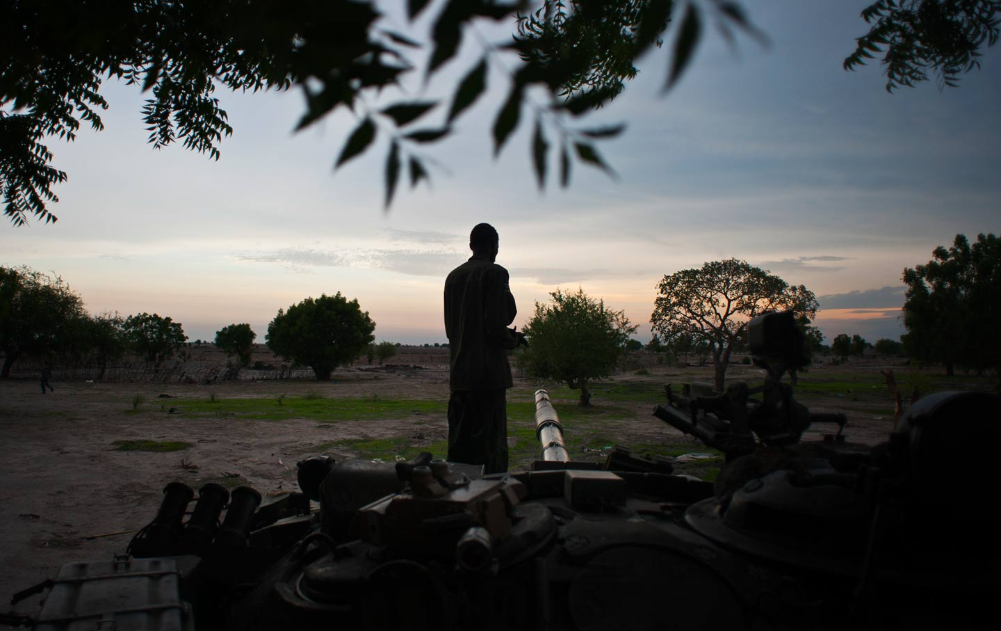 Rebel soldier in Leer, South Sudan