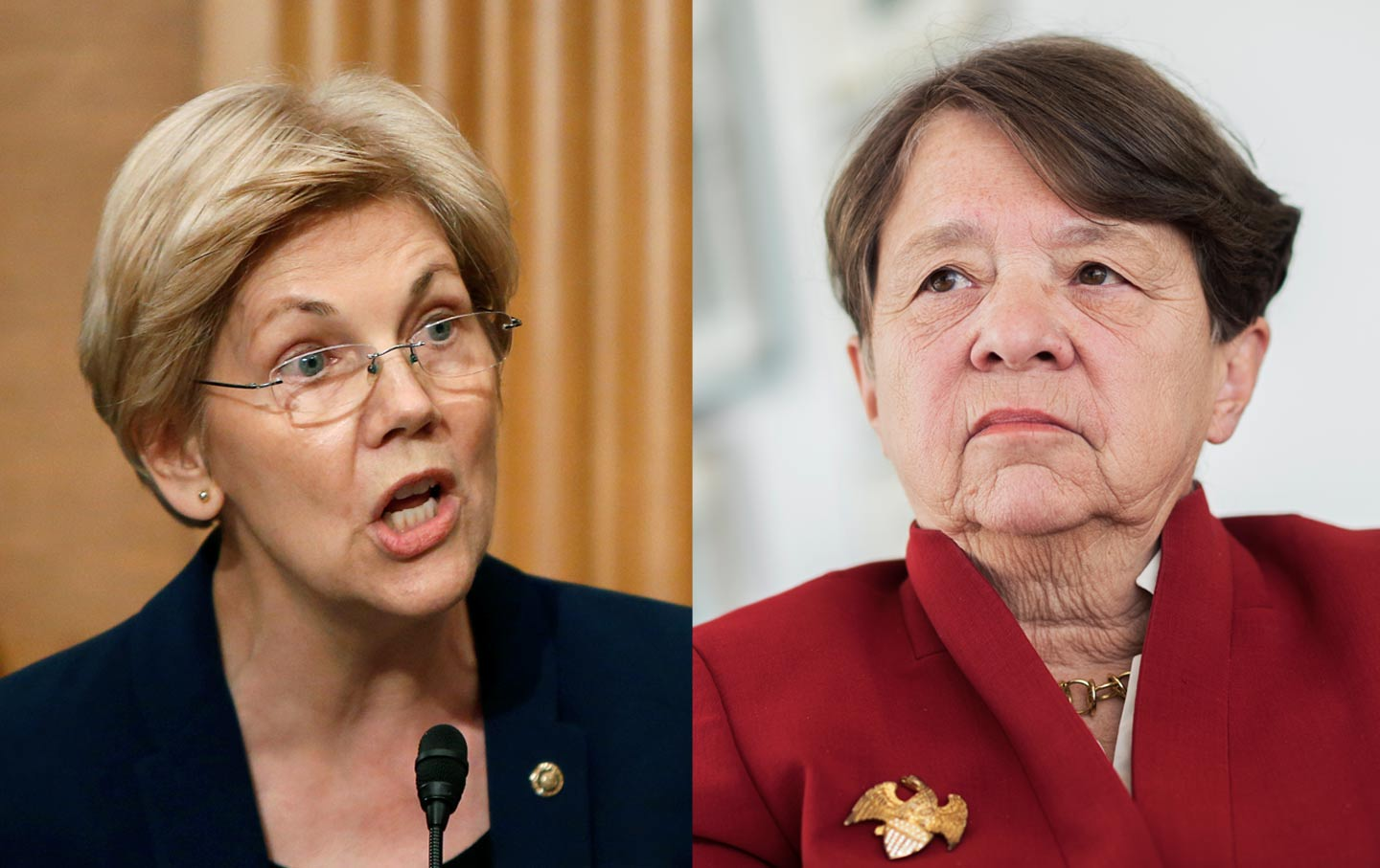 Elizabeth Warren and Mary Jo White